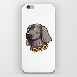 Weimaraner Weim Grey Ghost Doggie Dog Puppy Gift iPhone Skin