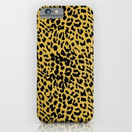 Leopard Ceylon Yellow iPhone Case