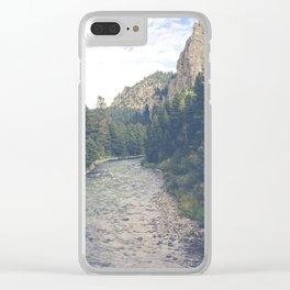 The Montana Collection - A River Runs Through It - Gallatin Canyon Clear iPhone Case