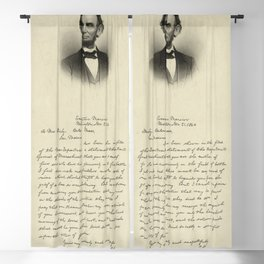 Civil War President Lincoln's Letter to Mrs. Bixby 1891 Blackout Curtain
