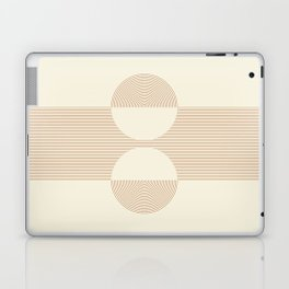Geometric lines in Shades of Coffee and Latte 2 Color Theme Laptop & iPad Skin