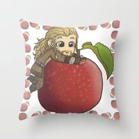 fili Throw Pillows featuring Fili&Apple by ScottyTheCat