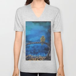 Owlie- The protector of the Forest Unisex V-Neck