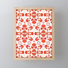 Fiesta Folk Red #society6 #folk Framed Mini Art Print