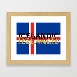 Icelandic Horses Cartoon Framed Art Print