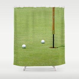 Golf Pin Shower Curtain