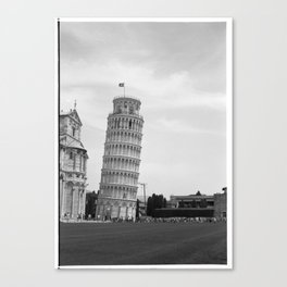 Scanned negative of the Leaning tower of Pisa Canvas Print