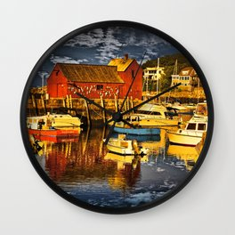 Motif Number 1 , Bearskin Neck, Rockport MA Wall Clock