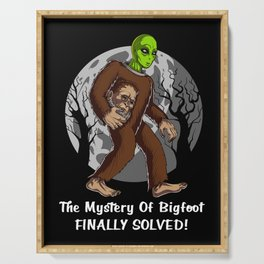 Alien Bigfoot Mystery Solved Conspiracy Serving Tray