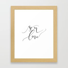 """So In Love"" Framed Art Print"