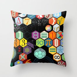 Math in color Black B Throw Pillow