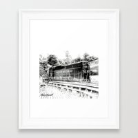 train Framed Art Prints featuring Train by Geni