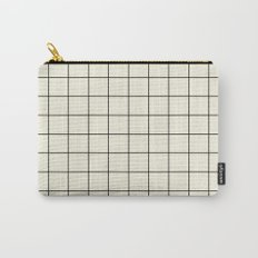 simple grid Carry-All Pouch