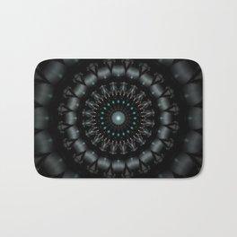 Mandala Black Bath Mat