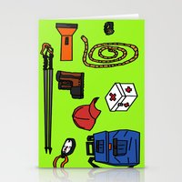 hiking Stationery Cards featuring Hiking by Jonny Penn