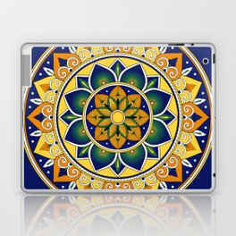 Italian Tile Pattern – Peacock motifs majolica from Deruta Laptop & iPad Skin