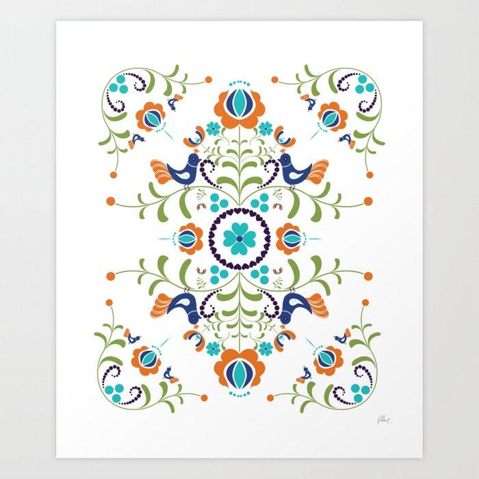 Hungarian folk art Art Print