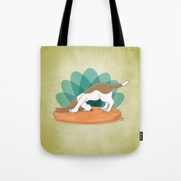 Basset Hound Downward Dog Tote Bag