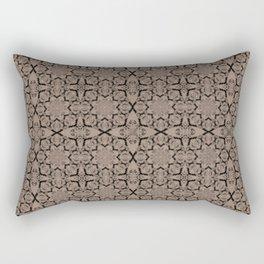 Warm Taupe Geometric Rectangular Pillow