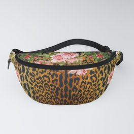 Rose around the Leopard Fanny Pack