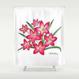Rain Lilies Shower Curtain