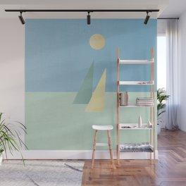 Minimalist sails Wall Mural