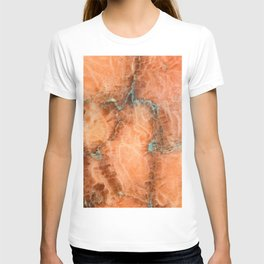 Abstract mineral texture T-shirt