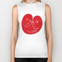 lovers Biker Tanks featuring Lovers by David Alegria