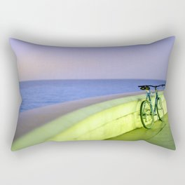 A bike ride at dusk in Nice Rectangular Pillow