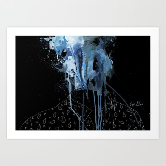 Thousands of faces, none of which I know Art Print