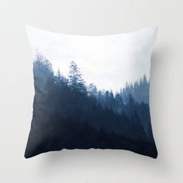 Blue Forest Throw Pillow