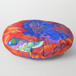 Japanese Poppy No.9 Floor Pillow