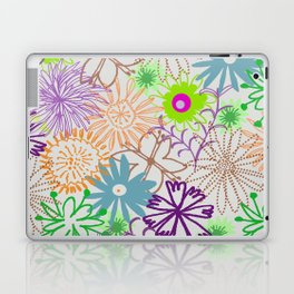 Drawn Flowers Laptop & iPad Skin