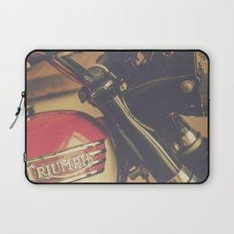 Vintage Triumph Bonneville Motorcycle Laptop Sleeve