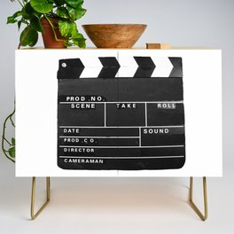 Film Movie Video production Clapper board Credenza