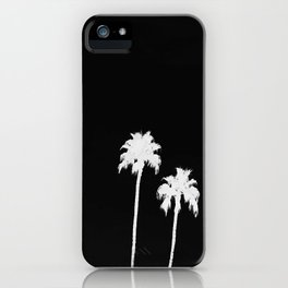 WHITE AND BLACK PALM iPhone Case