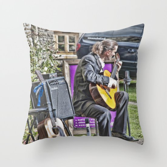 While My Guitar Gently Weeps 2 Throw Pillow