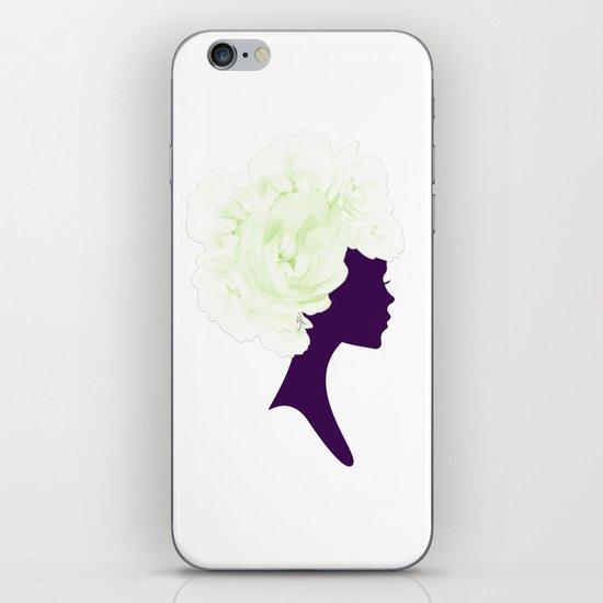 Rose Silhouette iPhone Skin
