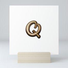 Chocolate Letter Q Mini Art Print