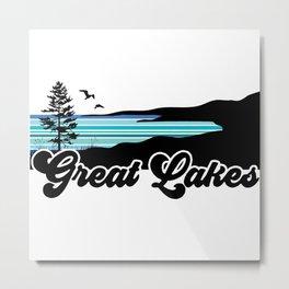 Great Lakes Coast Metal Print