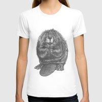 beaver T-shirts featuring Beaver by Nasir Nadzir