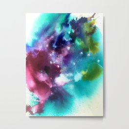Abstract in Purple and Blue Metal Print