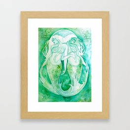 Goddess of Pisces - A Water Element Framed Art Print