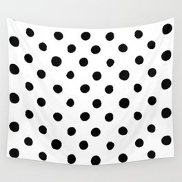 Modern Handpainted Abstract Polka Dot Pattern Wall Tapestry