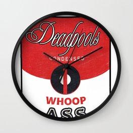 Deadpool's Can of Whoop-Ass! Wall Clock