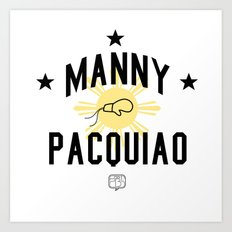 Manny Pacquiao Training Light Art Print