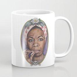 Watercolor Painting of Nina Simone Coffee Mug