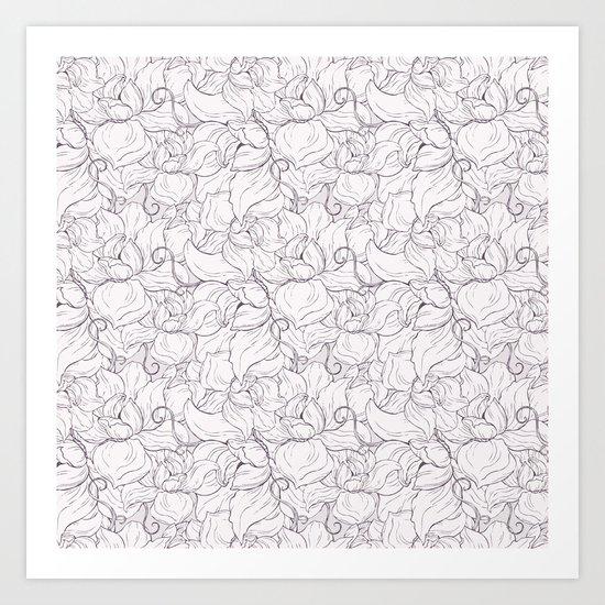 Fair Magnolias Art Print
