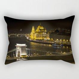 Budapest At Night Rectangular Pillow