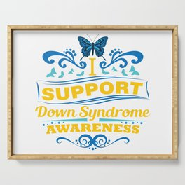 Down Syndrome Awareness Support Butterfly 21 Gift Serving Tray